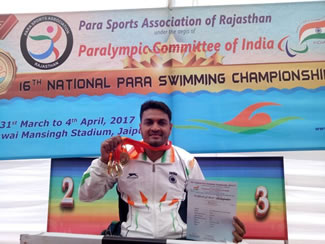 Mohammad Shams Aalam Shaikh recently set a record for having completed the longest open-sea swimming by a paraplegic by covering an impressive 8km in a span of four hours and four minutes. He swam in the open seas of Goa.