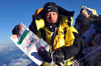 Anshu Jamsenpa has established a new women's record for a double ascent of the world's highest mountain in one season. On 21 May, Ms Jamsenpa reached the top of Mount Everest for the second time and stripped previous record-holder Chhurim Sherpa of the title. Ms Sherpa scaled the peak twice in a week in 2012 to claim the previous world record.