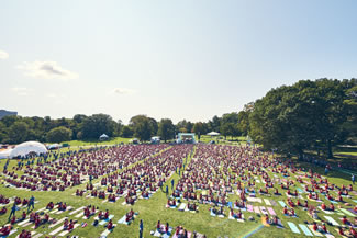 adidas and Wanderlust Break the GUINNESS WORLD RECORDS Title for Most People Doing Yoga in Pairs.