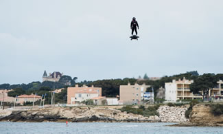 Frenchman and champion jet skier Franky Zapata covered the 1.4-mile distance over Sausset-Les-Pins using a hoverboard, and literally blow the previous Guinness World Records world record out of the water.