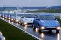 largest parade of electric vehicles world record set by Nissan LEAF