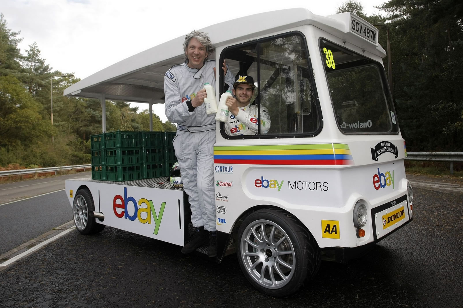 Fastest milk float: Edd China and Tom Onlsow-Cole break Guinness ...