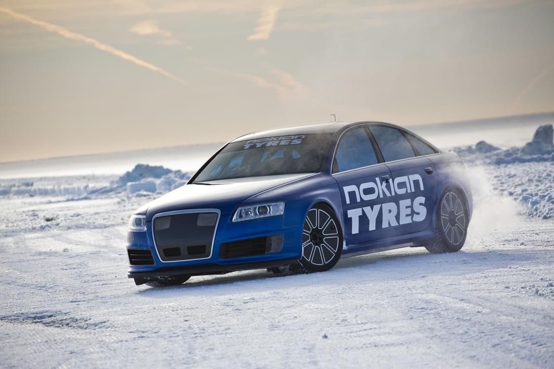 fastest car on ice nokian tyres breaks guinness world