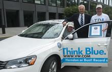 lowest fuel consumption in lower 48 states world record set by Volkswagen Passat TDI Clean Diesel