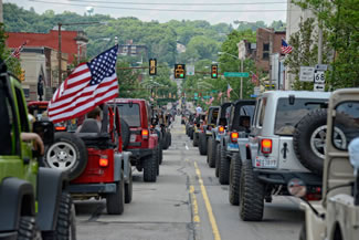 The Bantam Jeep Heritage Festival Parade on included 2,420 Jeeps, breaking the Guinness Worlds records record of 1,846 vehicles set earlier this year by the Jeep Beach event in Florida. Jeeps from 38 states and Canada participated in the record-setting event.