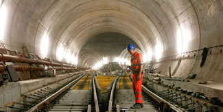 The 57-kilometre (35.4-mile) tunnel, which runs under the Alps, will become the world's longest railway tunnel when it opens on June 1. Some 28.2 million tonnes of mountain rock have been excavated and an estimated $12 billion (10.6 billion euros or R185 billion atR17.52/ euro) spent to construct a tunnel that should trim travel times through the heart of Europe.