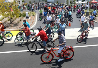 More than 300 electric bike riders attempted to establish a World Record for the largest parade of electric bike riders.