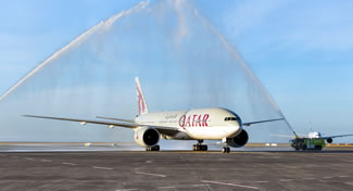 Qatar Airways flight 921 is the longest scheduled commercial flight by flying time. Qatar Airways is using a Boeing 777 on the 14,534 kilometre (9,031 mile) flight.
