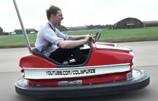 British inventor and YouTuber Colin Furze set a World Record by modifying a bumper car with a 600cc 100bhp engine, which allowed it to travel at speeds more than 100 miles per hour.