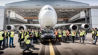The European-spec 2017 Cayenne S Diesel set a World Record for the heaviest aircraft pulled by a production car by pulling an Air France Airbus A380 -- which weighs about 628,000 pounds -- at Charles de Gaulle International Airport.