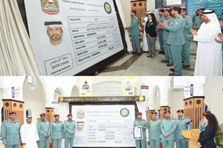Sharjah Police has set a new world record for creating the first ever and the largest driving license.