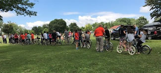158 riders participated in a classic bicycle parade on July 15 in Onondaga Lake Park. The ride was the largest classic bicycle parade in the world.