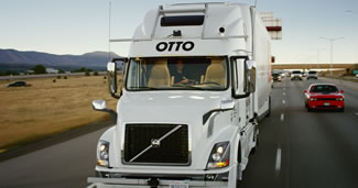 Anheuser-Busch hauled a trailer loaded with beer 120 miles in an autonomous-drive truck, completing the first commercial shipment by a self-driving vehicle.