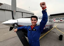 youngest pilot to fly around the world: Captain Tan James Anthony breaks Guinness world record
