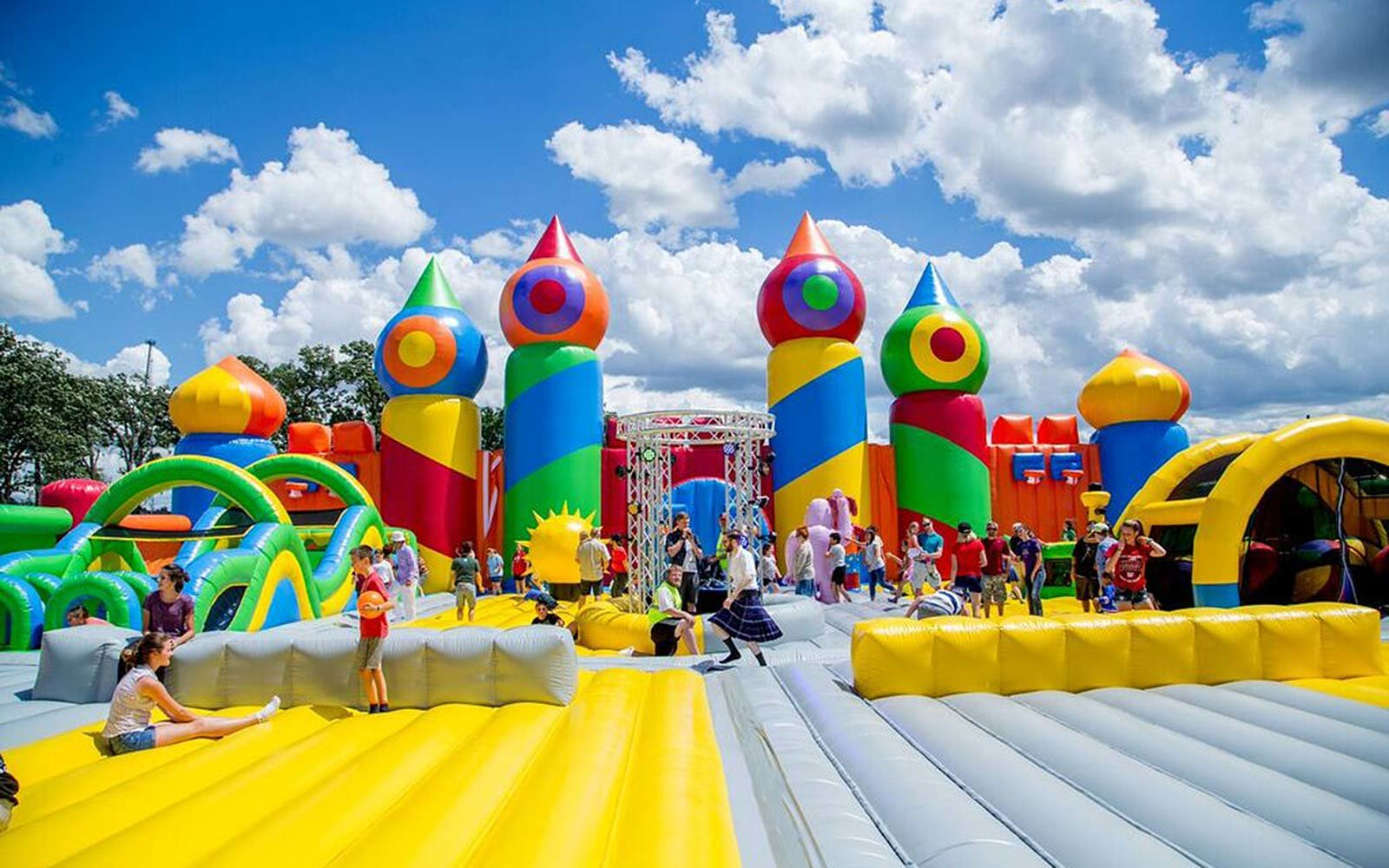 Largest Bounce House World Record Set By The Big Bounce