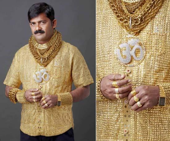 a41bcedac1c Photo  Indian businessman Datta Phuge s most expensive shirt made of  22-karat gold costs  235