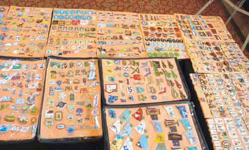 Largest collection of label pins: Arvind Sinha sets world ...
