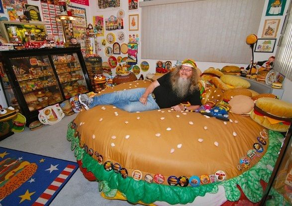 Largest collection of burger memorabilia: Harry Sperl sets