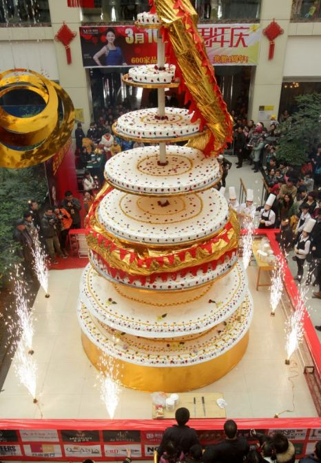Tallest Cake China Sets World Record Photos