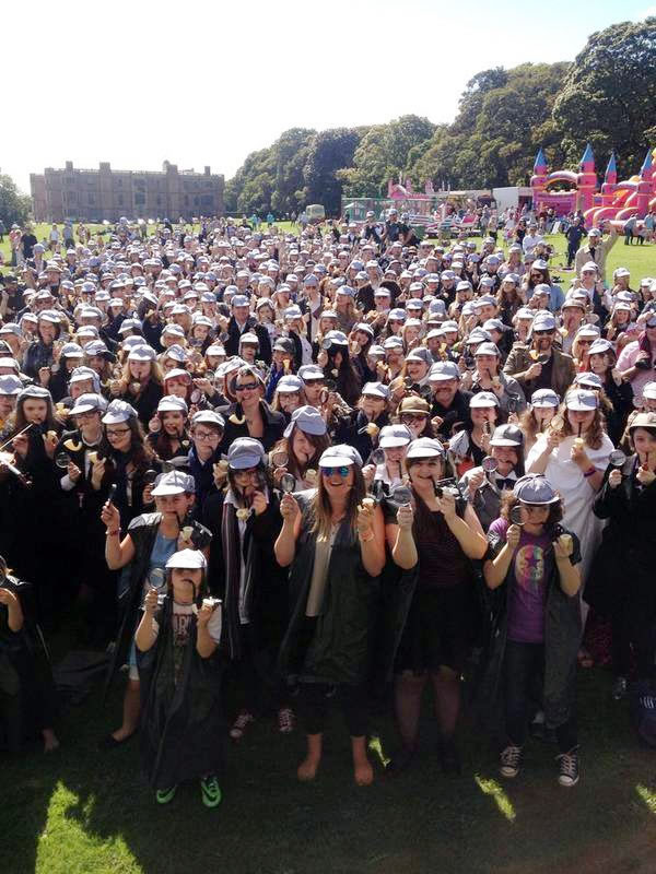 the event at temple newsam leeds west yorks saw fans set a new guinness world record for the most people dressed as the worlds greatest detective