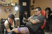 longest tattoo session by Robin H.M. in Norwalk
