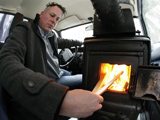 First car with a wood burning stove: Pascal Prokop sets ...