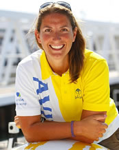 Dee Caffari first woman to sail around the world three times